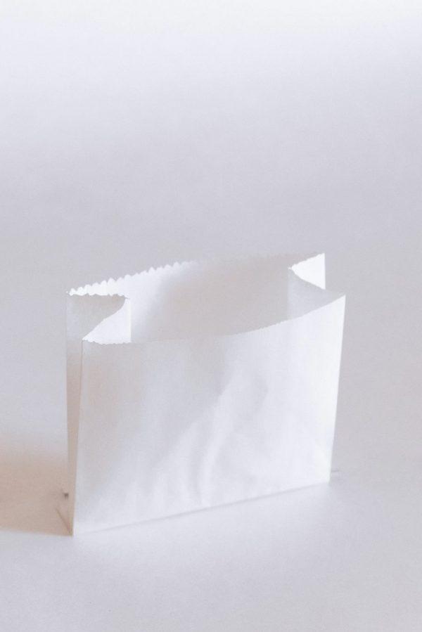 Пакет бумажный с V-образным (плоским) дном без окна