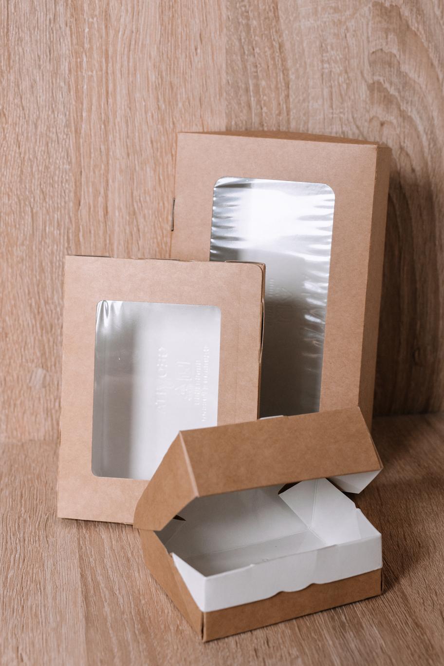 Картонная упаковка для еды и фаст-фуда